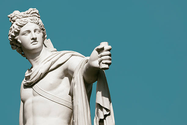 apollo belvedere statue - roman stock photos and pictures