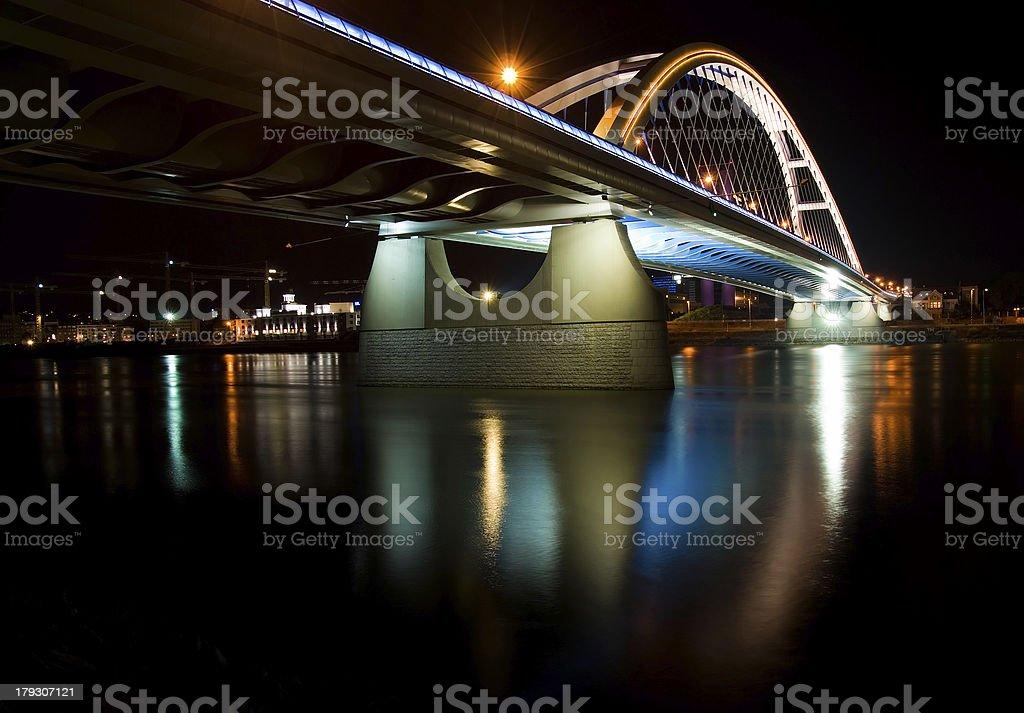 Apollo bridge in Bratislava royalty-free stock photo
