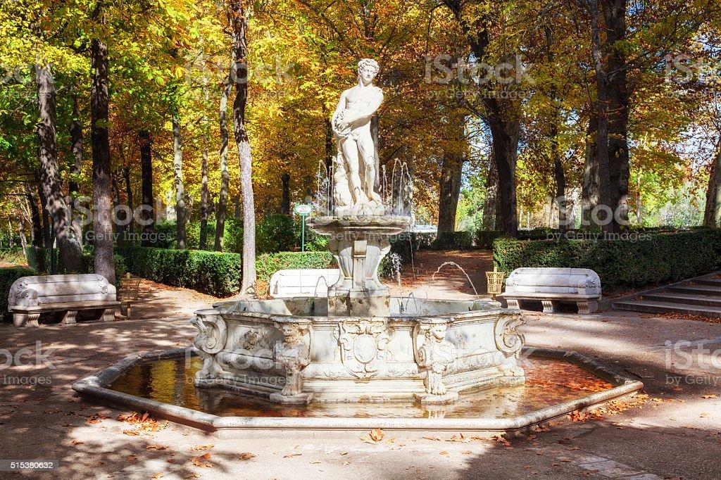 Apollo Fountain. Gardens Of The Royal Palace Of Aranjuez. Royalty Free  Stock Photo