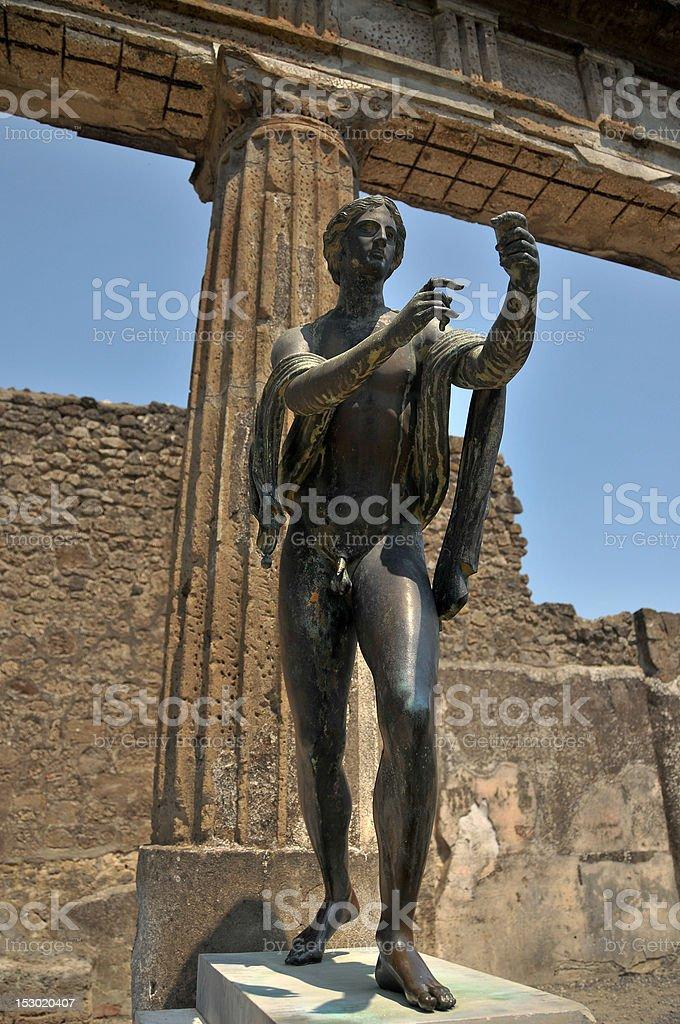 Apollo Dieu, Pompéi. - Photo