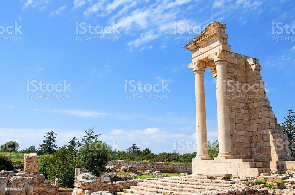 Apollo Hylates ruins stock photo