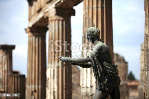 istock Apollo statue in Pompeii, Italy (apollo temple) 184612807