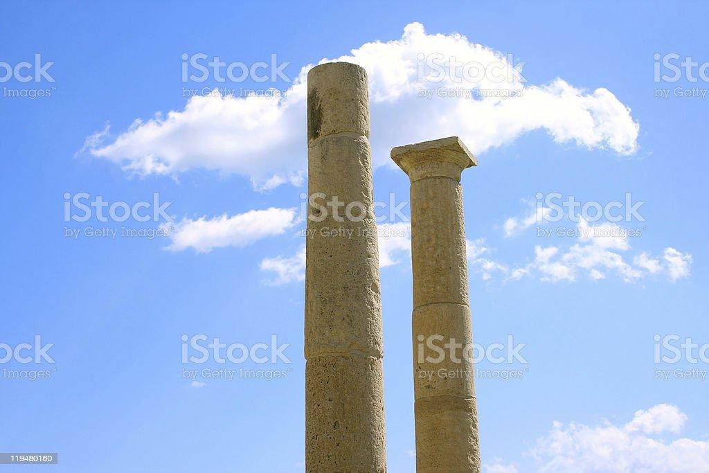 Apollo Temple columns of Amathus stock photo