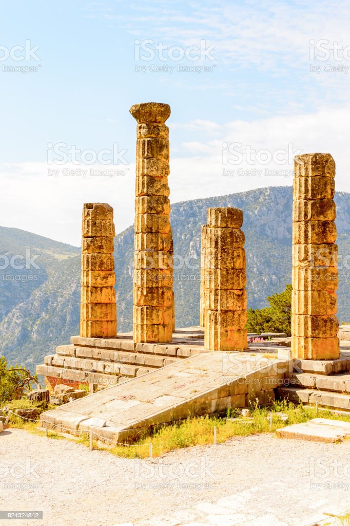 Apollo Temple In Delphi An Archaeological Site In Greece At The