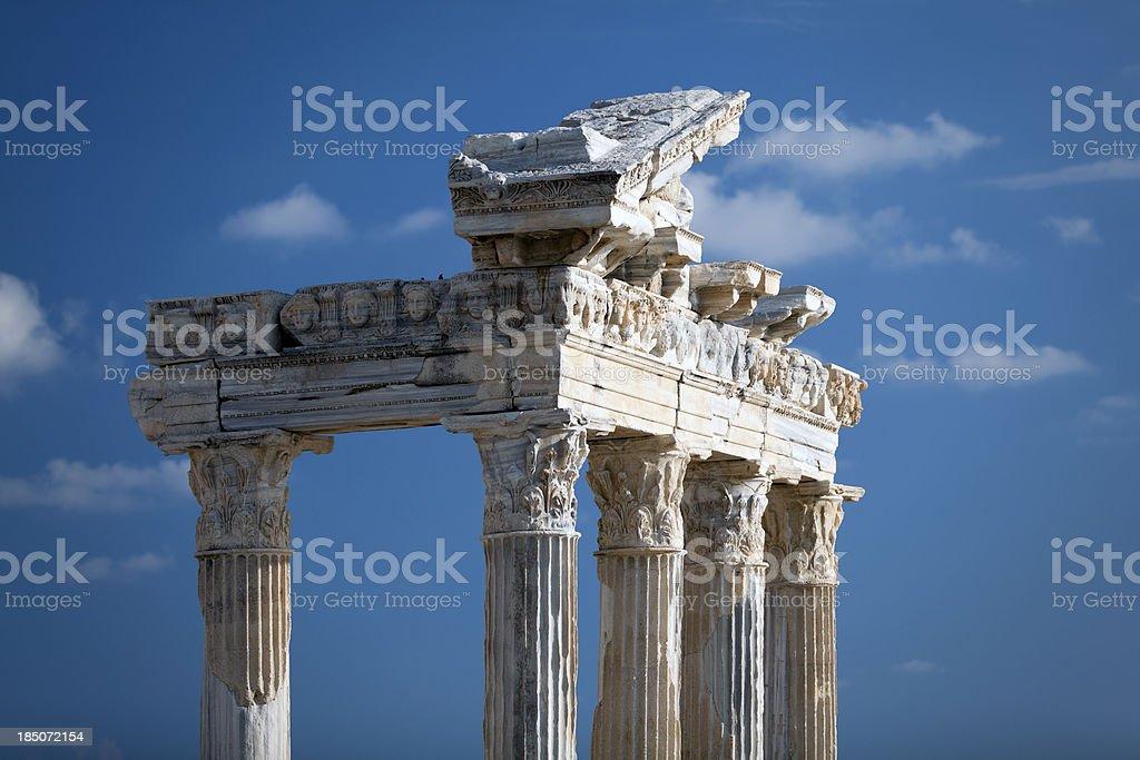 Apollo Temple in Side Turkey royalty-free stock photo