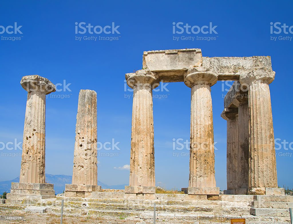 Apollo Temple royalty-free stock photo