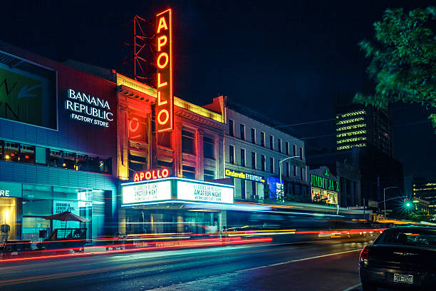 Apollo Theater in Harlem Overnight stock photo