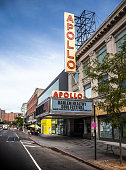 New York City, USA - September 3, 2014: Apollo theatre in Harlem, New York City