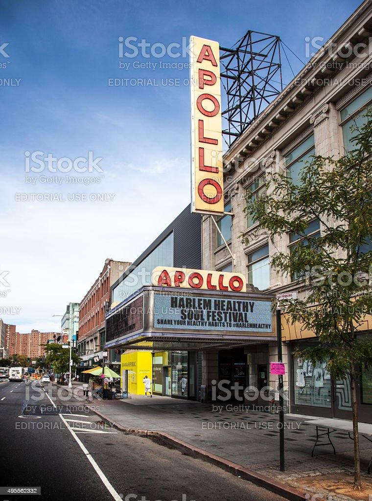 Apollo theatre in Harlem, New York City stock photo