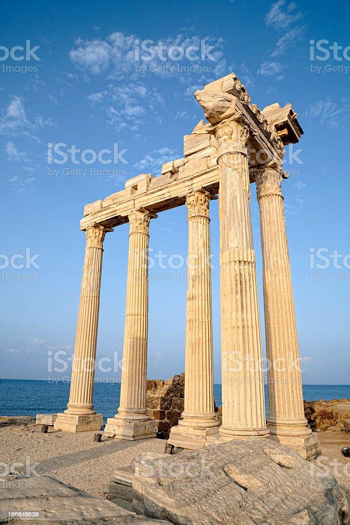 Apollon Temple (Side Turkey) stock photo
