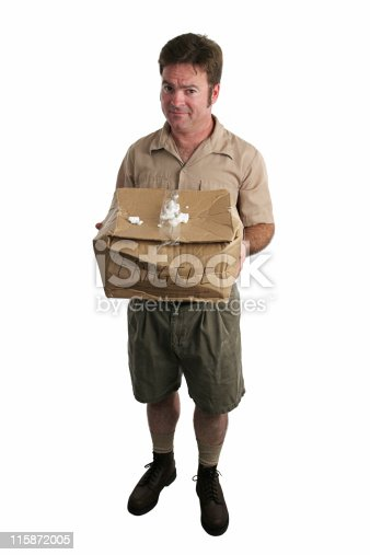 istock Apologetic Delivery Man 115872005