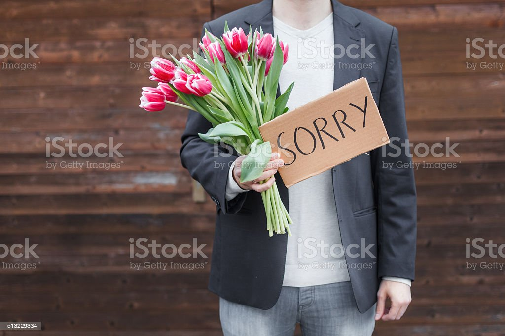 Apologize stock photo