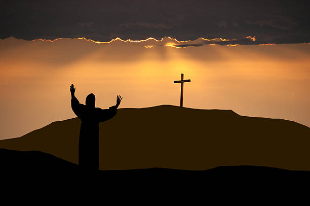 Apostle on Easter Morning stock photo