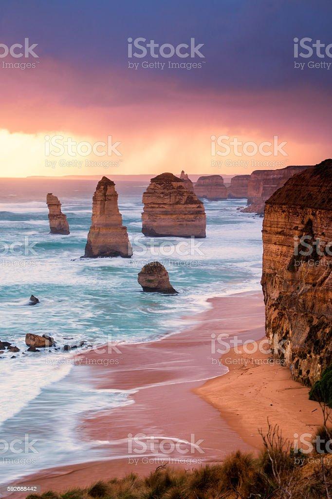 12 Apostles at Great Ocean Road stock photo