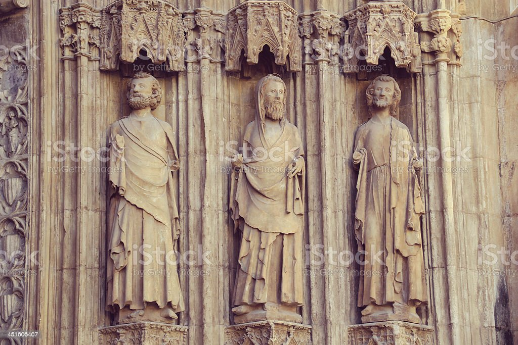 Apostles Gate of Valencia cathedral, spain. royalty-free stock photo