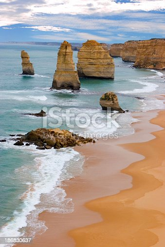 Touristic attraction at Victoria, Australia. 12 Apostles