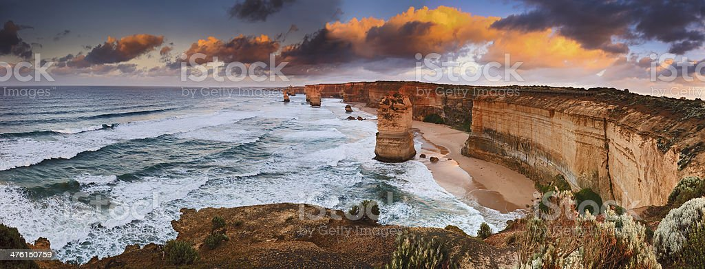 GOR 6 Apostles Sunrise panorama stock photo