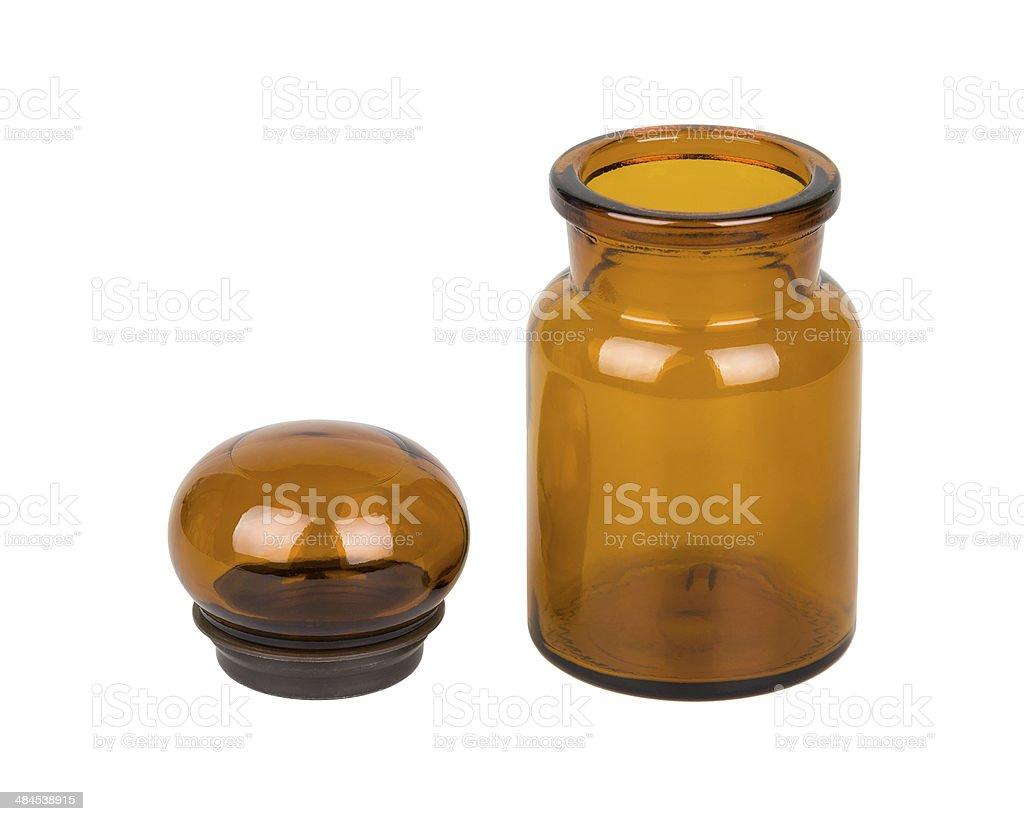 Apothecary bottle isolated on white stock photo
