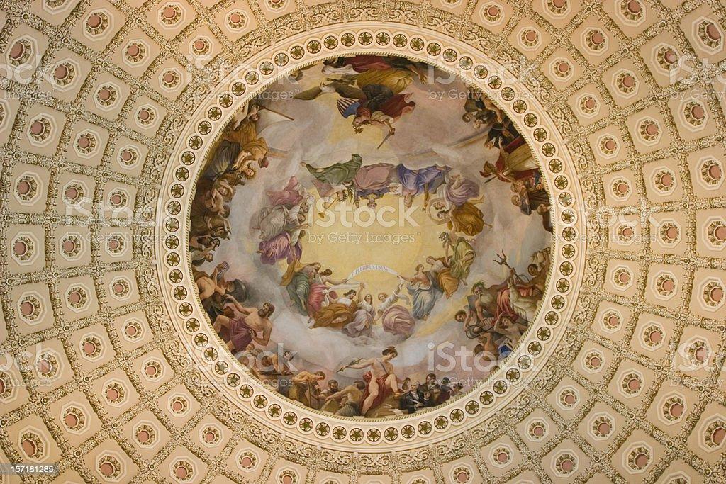 Apotheosis of Washington DC stock photo