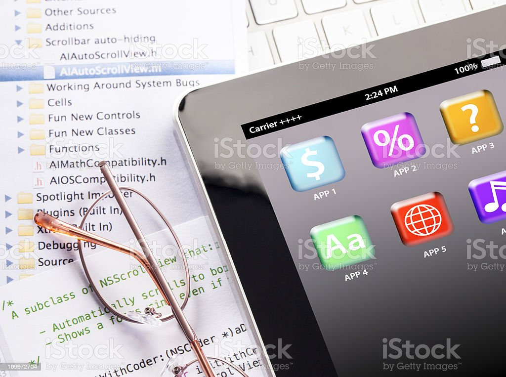 App Design & Development royalty-free stock photo