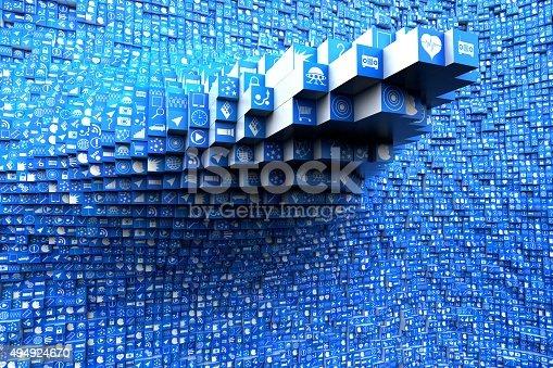 494924670 istock photo App Icons 494924670