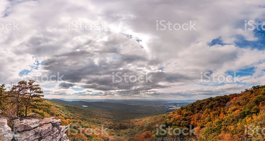 Appalachian Mountain Autumn Landscape stock photo