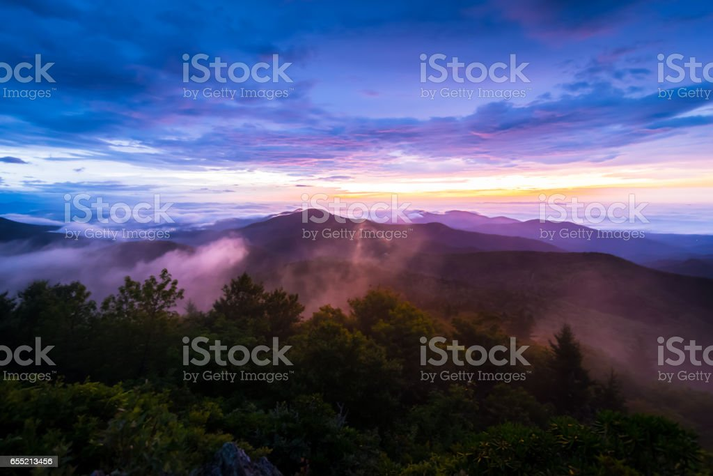 Appalachian Mountain Sunrise stock photo