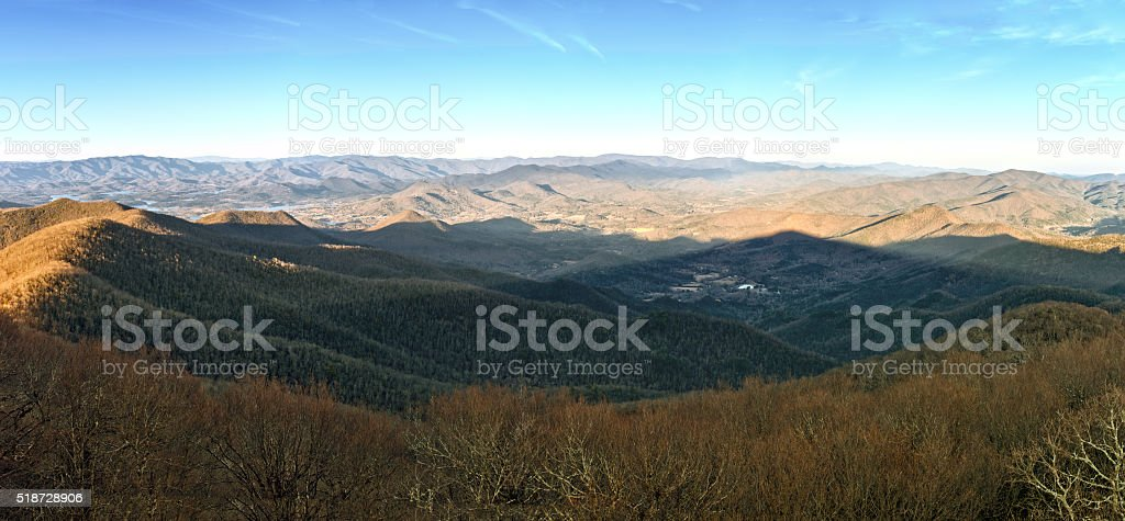 Appalachian Panorama stock photo