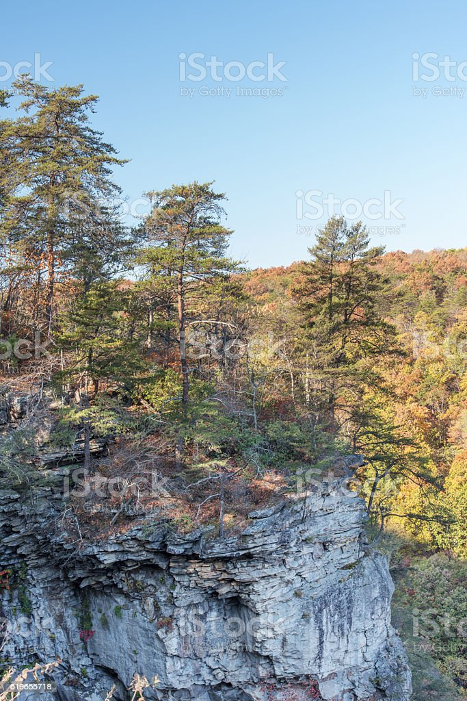 Appalachian Plateau at Lookout Mountain in North Georgia USA stock photo