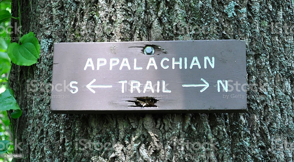 Appalachian Trail Sign stock photo