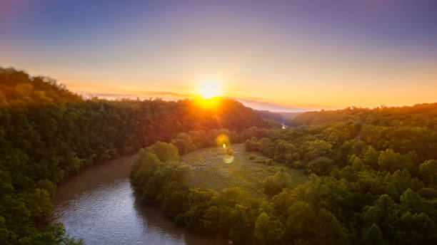 Appalachian Wilderness Sunrise stock photo