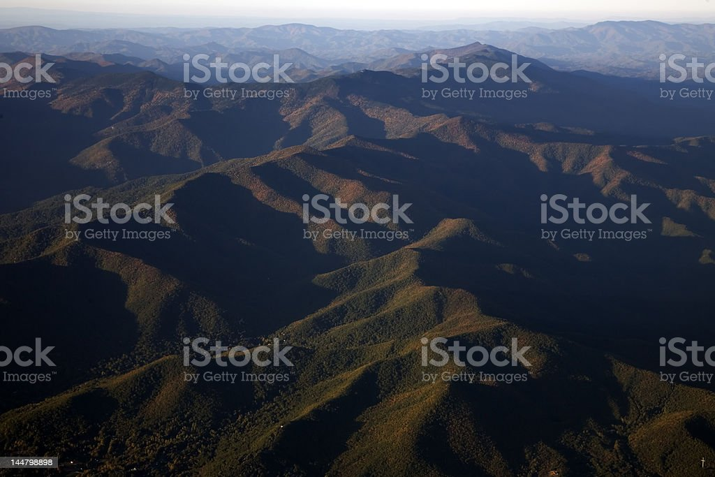 Appalachians From Above royalty-free stock photo