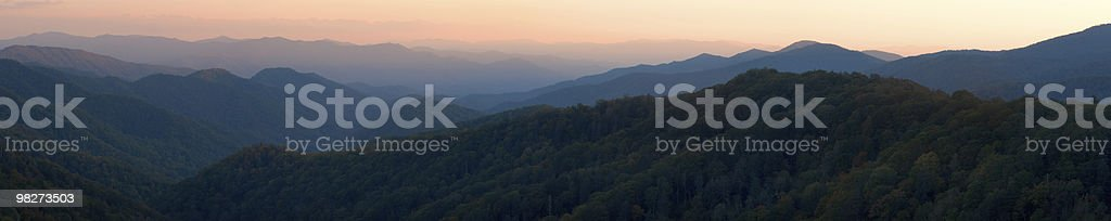 Appalacia panoramica tramonto foto stock royalty-free