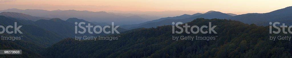 Appalacia Panoramic Sunset stock photo