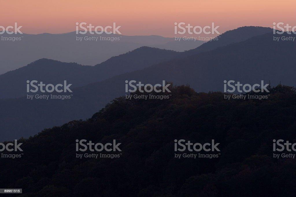 Appalacian Sunset royalty-free stock photo
