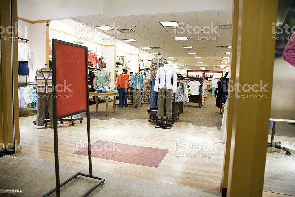 Apparel Store royalty-free stock photo