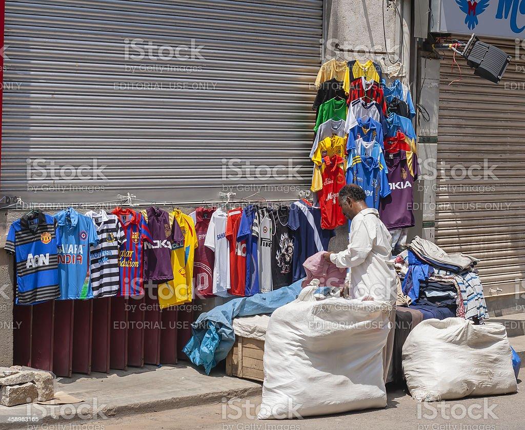 Apparel vendor, India royalty-free stock photo