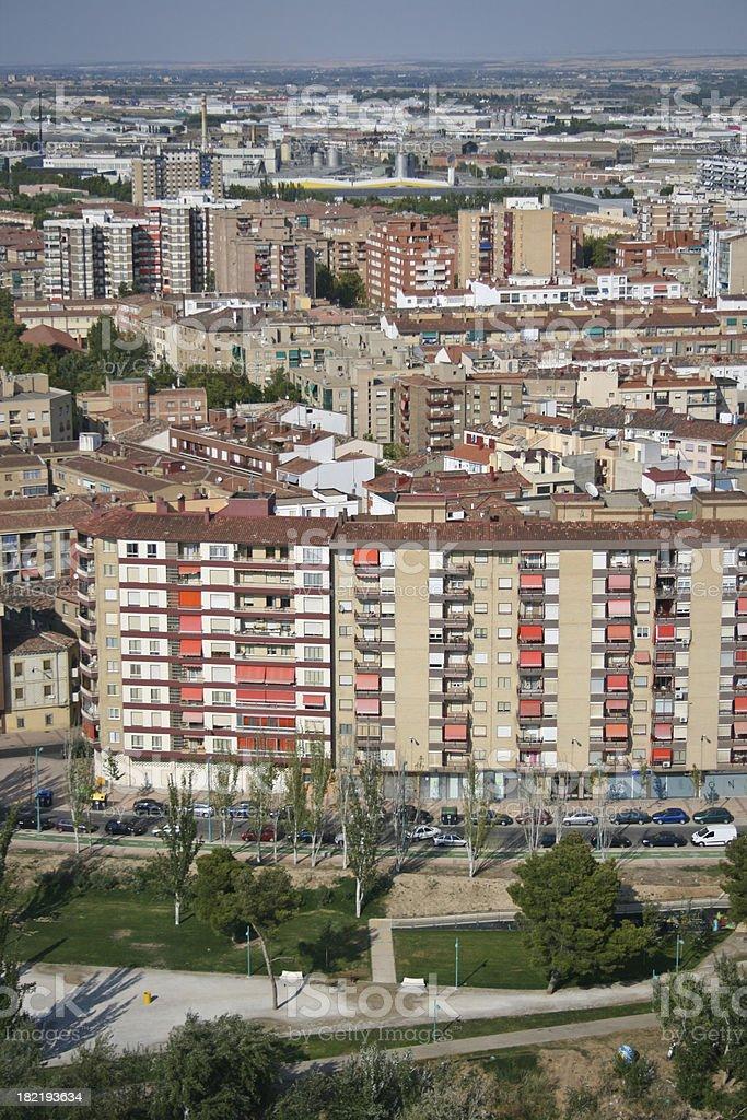 Appartment blocks in Saragossa Zaragoza Aragon Basque CountrySpain royalty-free stock photo