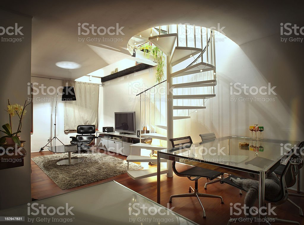 appartment indoors stock photo
