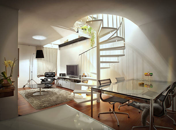 appartment indoors modern appartment man cave stock pictures, royalty-free photos & images