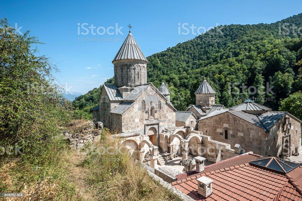 Appearance of the monastery Haghartsin. stock photo