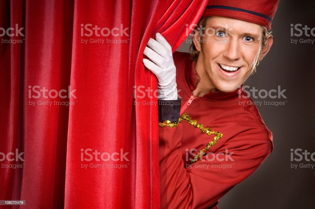 appearing usher royalty-free stock photo
