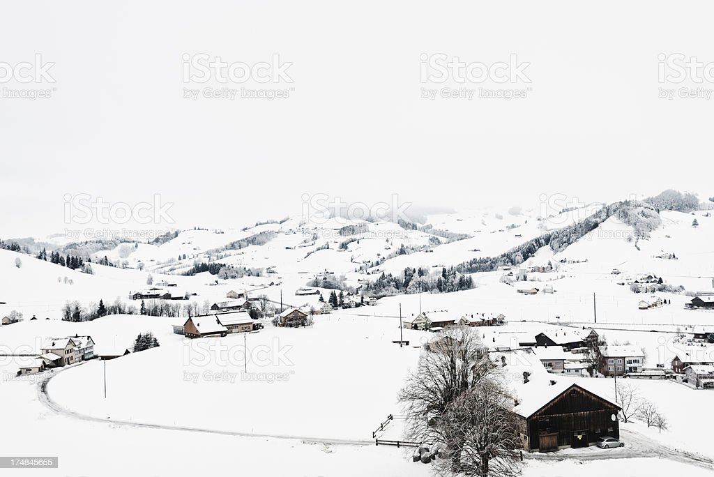 Appenzellerland in Winter royalty-free stock photo