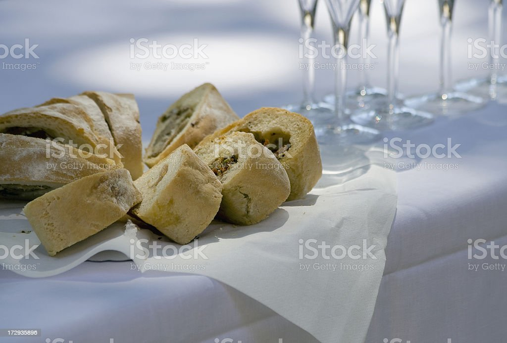 appetizer and champagne royalty-free stock photo