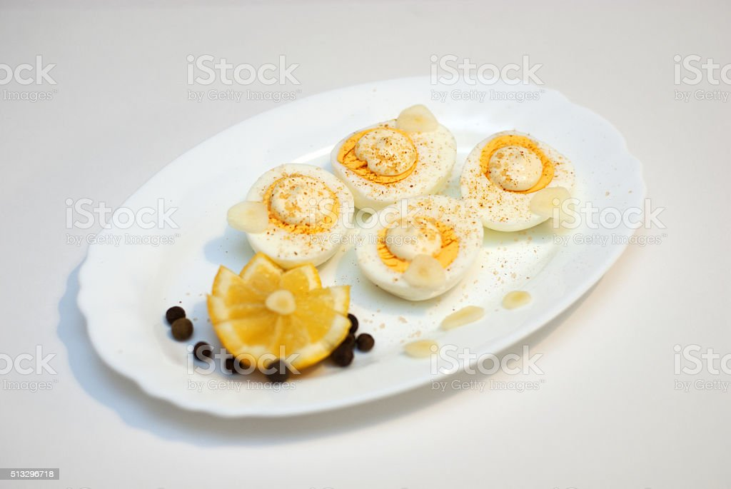 appetizer chicken eggs stock photo