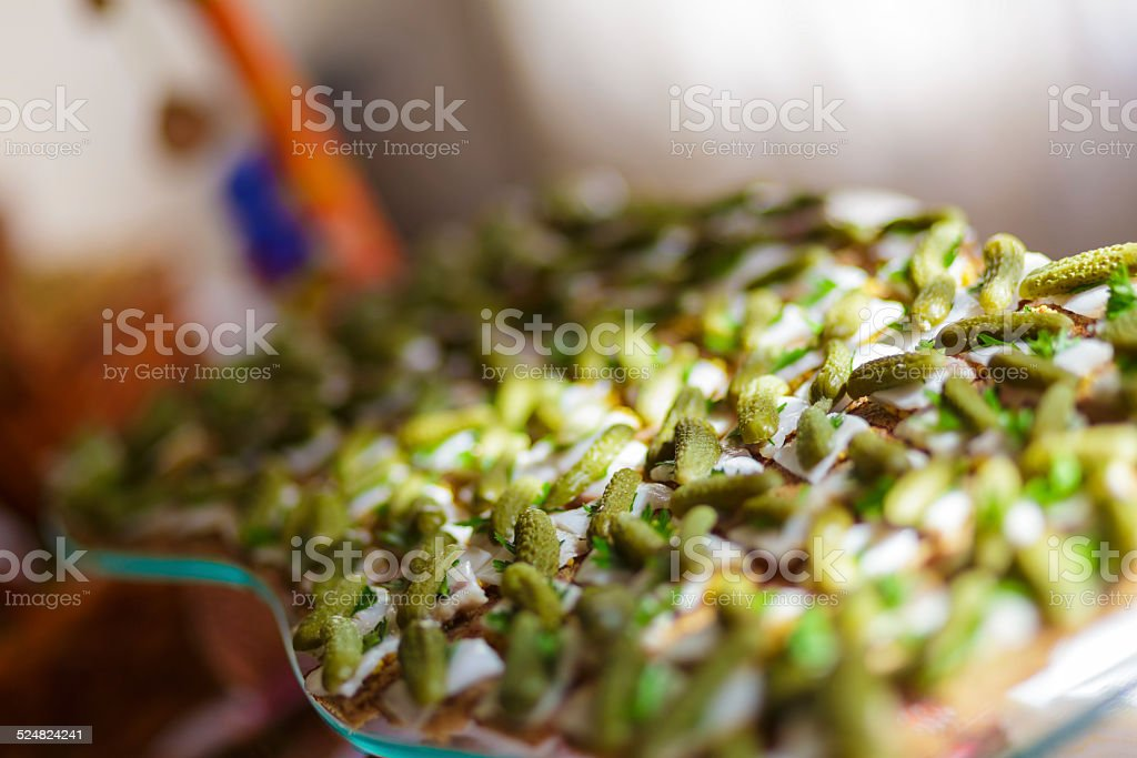 appetizer on the table stock photo