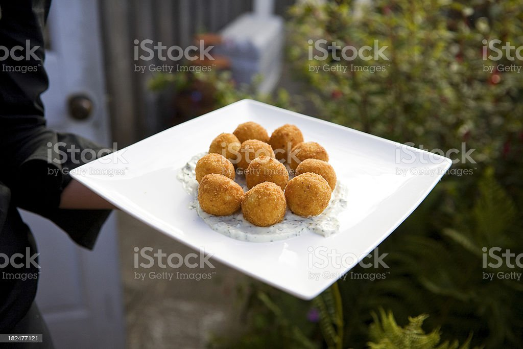 Appetizer plate stock photo