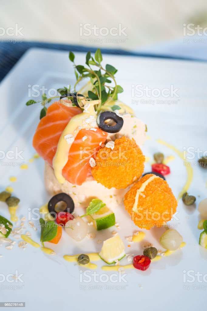 appetizer  & salmon royalty-free stock photo