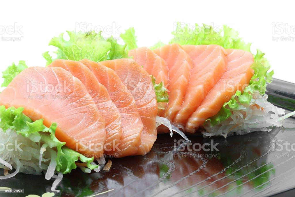 appetizer salmon sashimi royalty-free stock photo