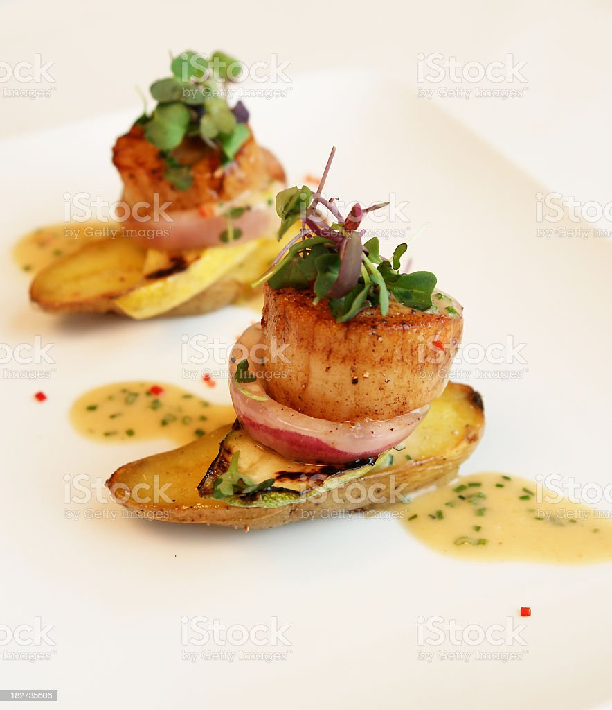 Appetizer - scallop royalty-free stock photo